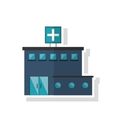 Isolated hospital building design vector image