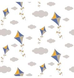 Kite in sky seamless pattern vector image