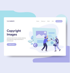 landing page template of copyright images vector image