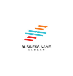 line stripe business logo vector image