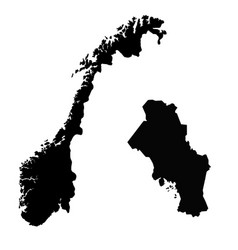 Map norway and oslo country and capital isolated vector