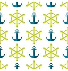 Marine Seamless Ship Steering Wheel Background vector