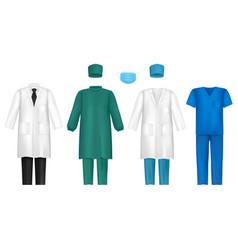 Medical clothes for healthcare vector