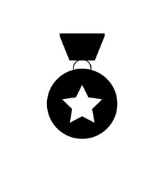 military reward metal icon vector image