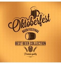 oktoberfest vintage poster background vector image