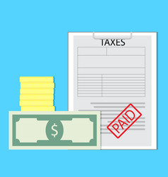 Paid taxes vector