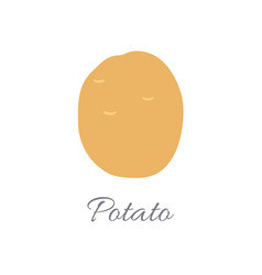 potato icon with title vector image