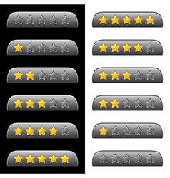 Rating stars for web vector image