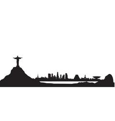 Rio de janeiro city skyline travel background vector