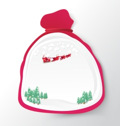 Santa Claus bag with christmas background paper vector