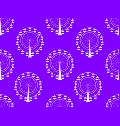 Seamless pattern with a ferris wheel vector