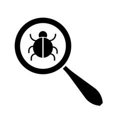 search bug icon vector image