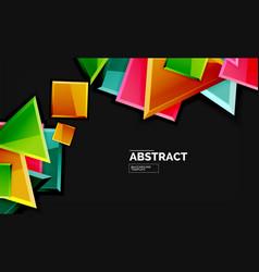 Shiny style geometric background vector