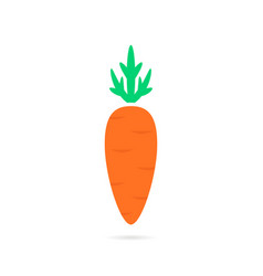 Simple carrot logo with shadow vector