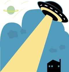 Space UFO vector