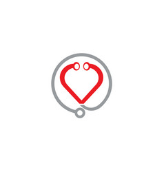 Stethoscope and heart icon in shape health vector