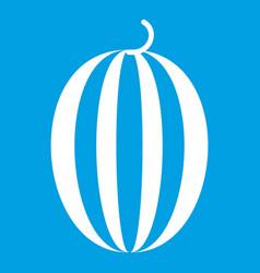 Striped melon icon white vector