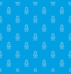 studio microphone pattern seamless blue vector image