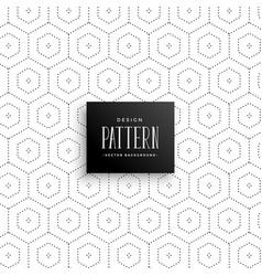 Subtle hexagonal dots pattern background vector