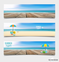 Summer holiday background on note paper vector
