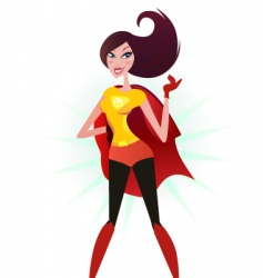 Super woman hero vector