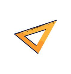 triangular ruler icon vector image