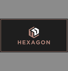 ud hexagon logo design inspiration vector image