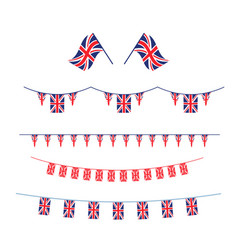 Union jack flag set vector