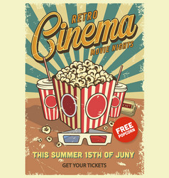 Vintage cinema poster vector