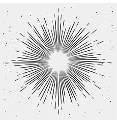 Vintage monochrome starburst vector image