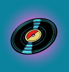 Vinyl record music vector