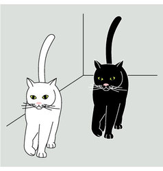 Walking cats vector