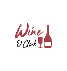 wine quote lettering typography vector image