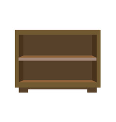 wooden bedside chest vector image