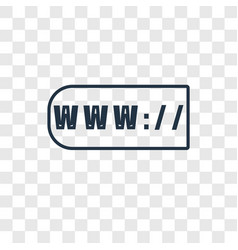 www concept linear icon isolated on transparent vector image