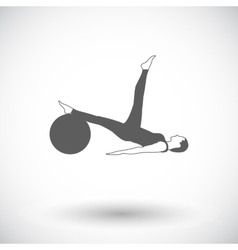 Yoga icon vector