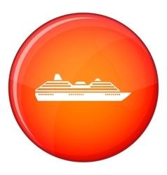 Cruise ship icon flat style vector