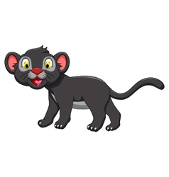 cute black panther posing vector image vector image