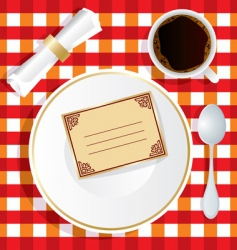 invitation to lunch vector image