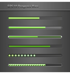 Progress Bars vector image vector image