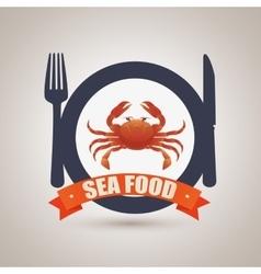 sea food design vector image