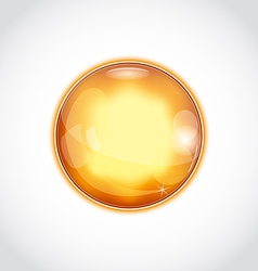 Abstract glass sphere isolated on white vector image