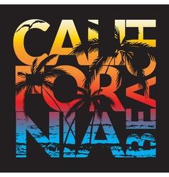california beach design vector image vector image