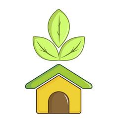 eco house icon cartoon style vector image
