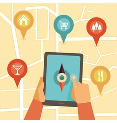 gps vector image vector image