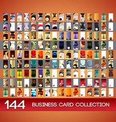 Vertical business cards collection vector image vector image