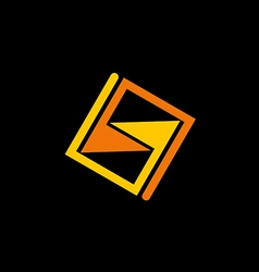 abstract square geometry logo vector image
