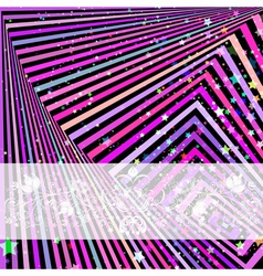 Festive frame with colorful stripes vector