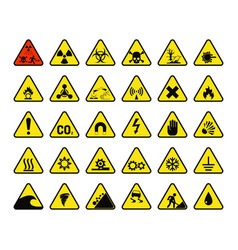 prohibition signs industry production vector image vector image