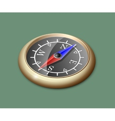 Brass compass vector image